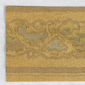 These samples have all been removed from a scrapbook that contained 195 examples of wallpaper borders. Sample -102 contains moon and stars that could be for children.