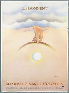 Poster, Don De Folon. Musée des arts décoratifs. Ils Donnent, 1979