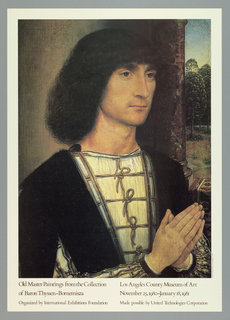 Poster, Old Master Paintings from the Collection of Baron Thyssen-Bornemisza, Los Angeles County Museum of Art, 1980