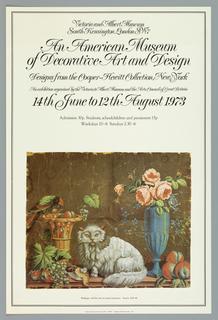 Poster, HMSO/Peter Branfield, An American Museum, 1973
