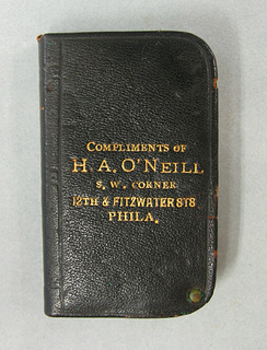 """""""Compliments of H.A. O'Neill"""""""
