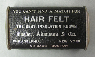 """""""You Can't Find a Match For HAIR FELT, the Best Insulation Known/ Barber, Adamson & Co."""""""