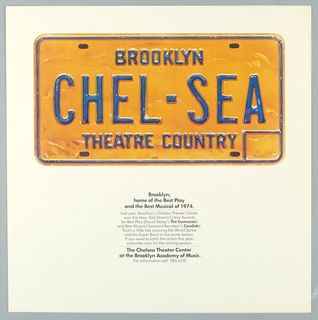 Poster promoting Brookyln's Chelsea Theater Center.