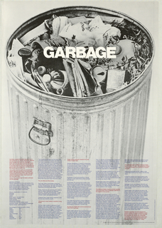 Poster, GARBAGE: International Design Conference in Aspen: The Invisible City
