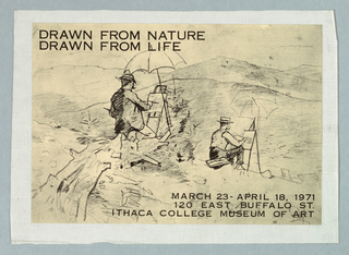 Poster, Drawn From Nature/Life, 1971