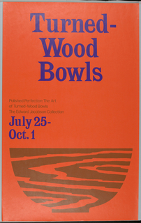 Poster, Polishes Perfection: Turned Wood Bowls