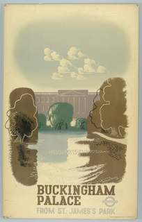Poster, Buckingham Palace from St. James's Park