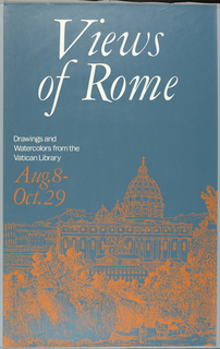 Poster, Views of Rome: Drawings & Watercolors from the Collection of the Biblioteca Apostolica Vaticana