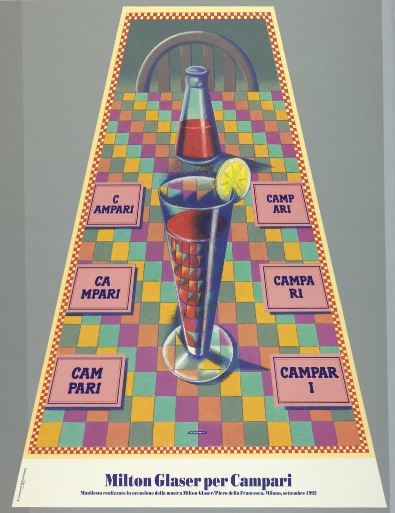 Poster, Milton Glaser per Campari, No. 1
