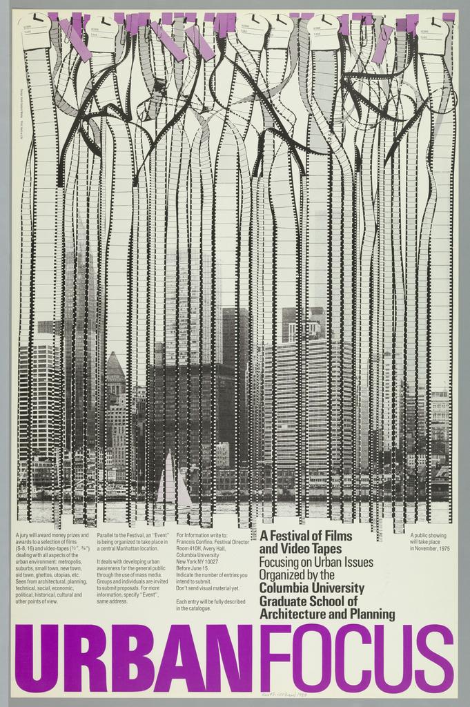 Poster, Urban Focus