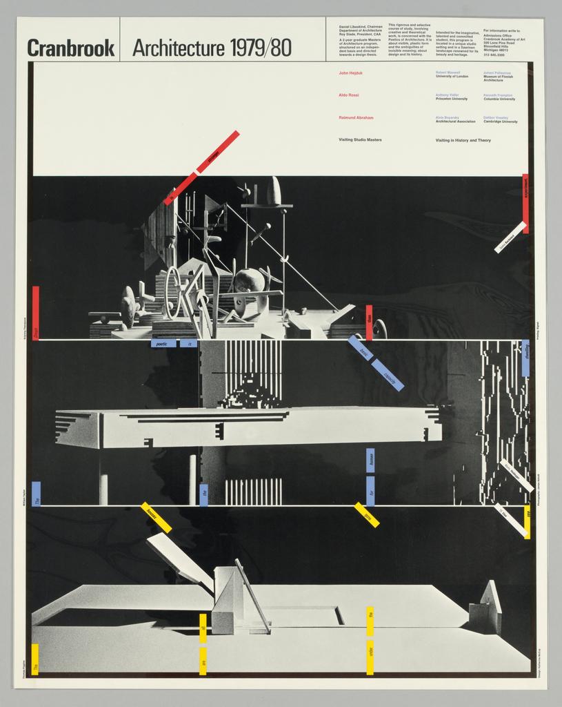 Poster, Cranbrook Architecture 19, 1979–80