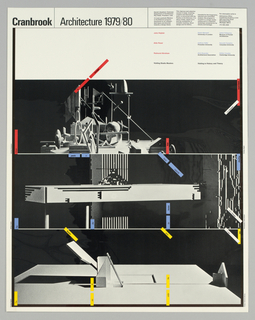 Poster, Cranbrook Architecture 19, 1979–80
