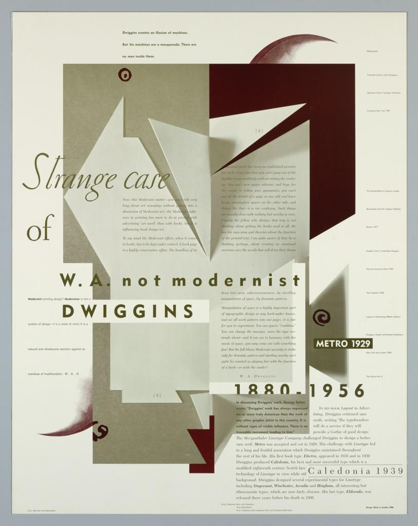 Poster, Strange Case of W.A. not modernist Dwiggins