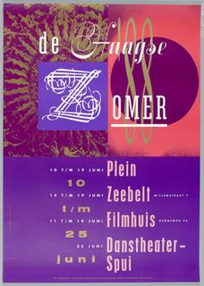 Poster, de Haagse Zomer/Juni 10/25, 1998, 1988