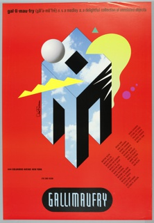 Poster, Gallimaufry, 1987