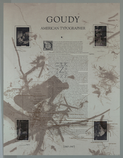 Poster, Goudy American Typographe