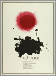 Poster, Gottlieb, 1968
