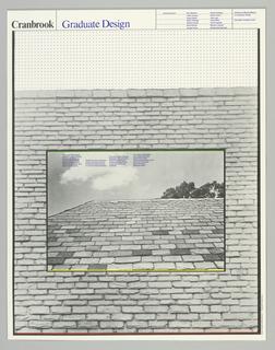 Poster, Cranbrook Graduate Design