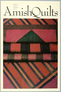 Poster, Amish Quilts, 1979