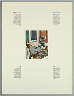 Poster, Cranbrook Academy of Art, 1972