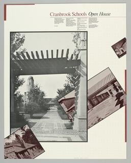 Poster, Cranbrook Schools Open Ho, 1979