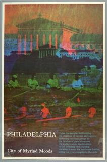 Poster, Philadelphia: City of Myriad Moods, 1970