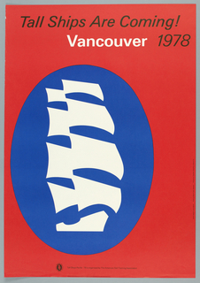 Poster, Tall Ships Are Coming! Vancouver, 1978