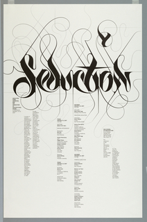 Poster, Seduction, for Yale School of Architecture Symposium, January 20-21, 2007