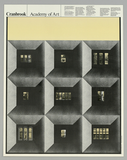 Poster, Cranbrook Academy of Art