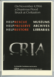 Poster, CRIA (Committee to Rescue