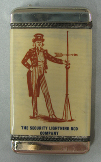The Security Lightning Rod Company Matchsafe, 20th century