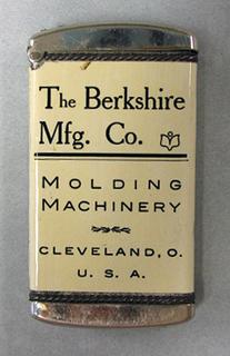 """The Berkshire Mfg. Co. Molding Machinery Cleveland, Ohio"""