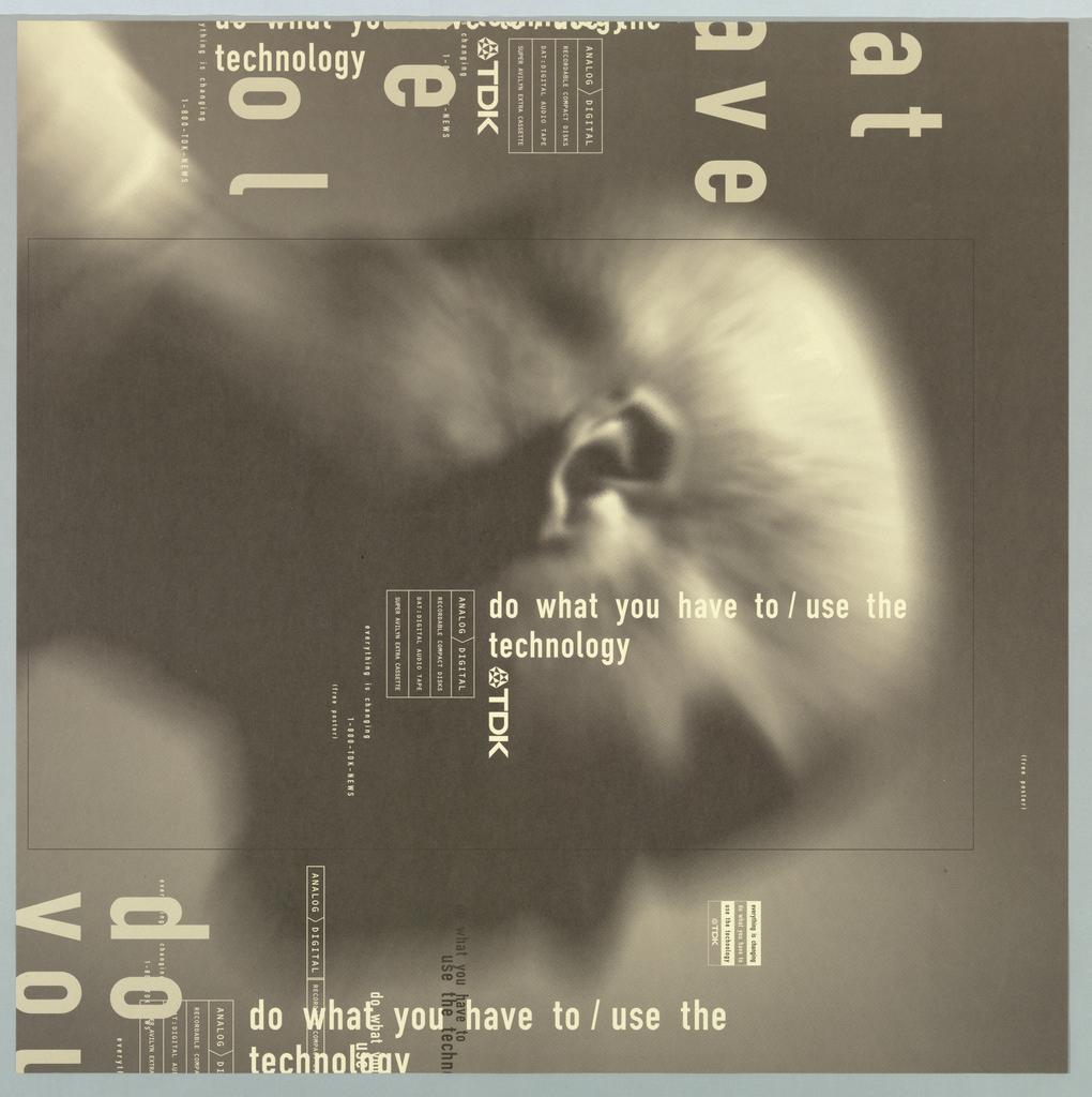 Poster, TDK, ca. 1990–95
