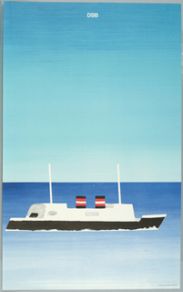 Poster, Danish State Railroad, 1979
