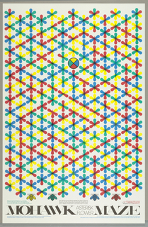 Poster, Mohawk Maze: Asterisk Flower, 1983 (for Mohawk Paper Co.), 1983