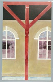 Poster, Danish State Railroad, 1980