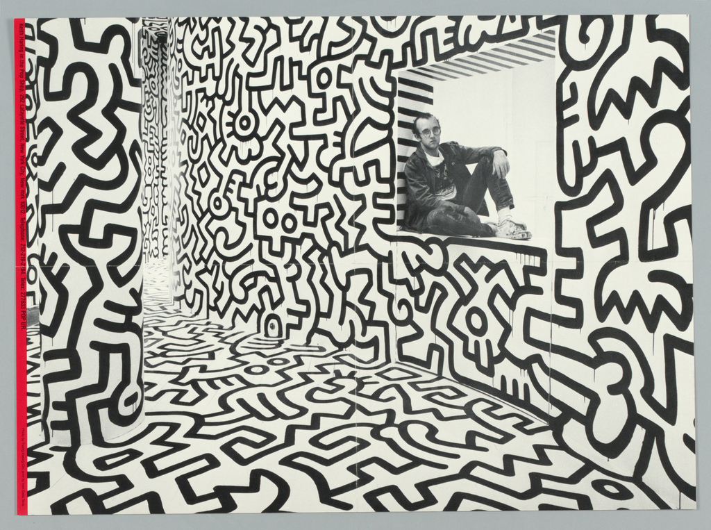 Poster, Keith Haring in the Pop Shop, ca. 1983 | Objects ...