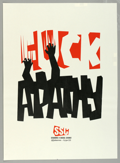 "Poster, ""Fuck Apath"" for Digital Mafia, 1994"