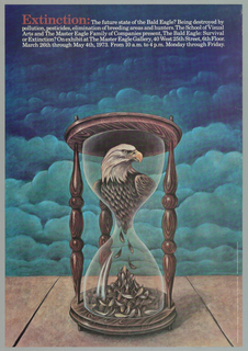Poster, Extinction: The Future State of the Bald Eagle?, 1973