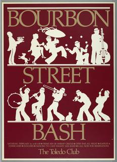 Poster, Bourbon Street Bash