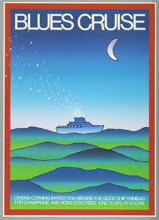 Poster, Blues Cruise, 1979