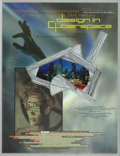Poster, Design in Cyberspace, 1991