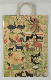 Museum of American Folk Art in white on side panels only; photos of various parts of folk art quilt on tan background.
