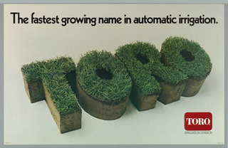 Poster, The Fastest Growing Name in Automatic Irrigation, Toro