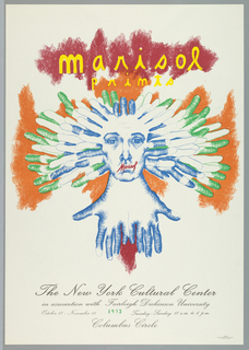 Poster, Marisol Prints / The New York Cultural Center / in assoication with Fairleigh Dickinson University 1973