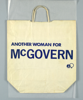 """Another Woman for McGovern""; blue logo on white."