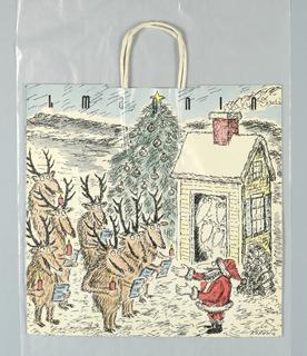 Shopping Bag, I. Magnin: Christmas 1984