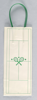 Crossed green tennis rackets on court.