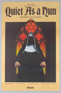 "Poster, Mobile, Mystery! ""Quiet as a Nun"", 1982"