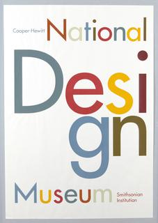 Poster, Cooper-Hewitt, National Design Museum, Smithsonian Institution